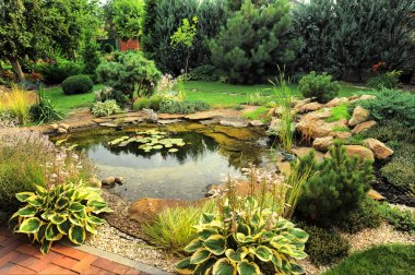 Landscape design stock vector