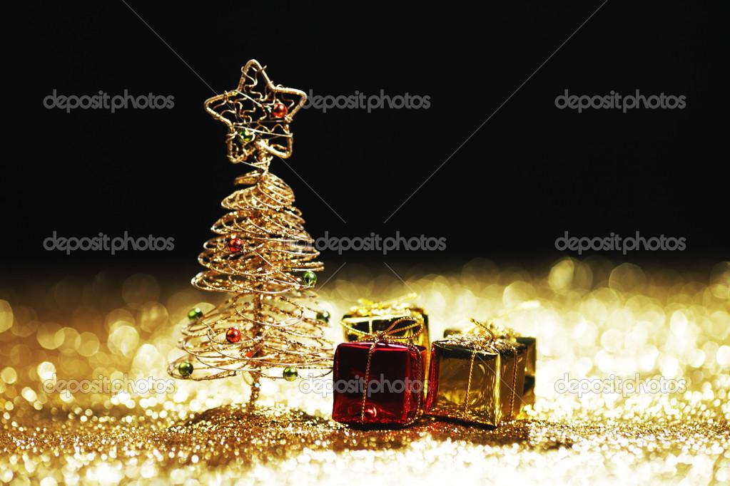 Weihnachtsbaum, Geschenke — Stockfoto © yellow2j #34296375