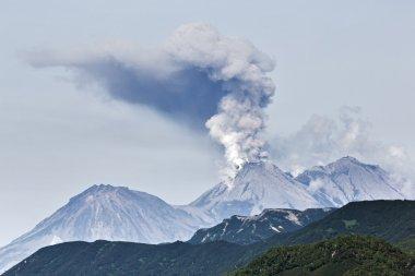 Beauty volcanic landscape: eruption active volcano