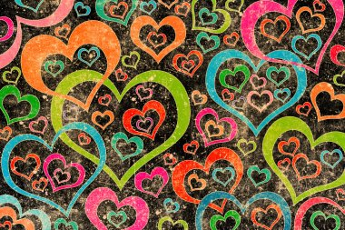 Vintage love pattern background