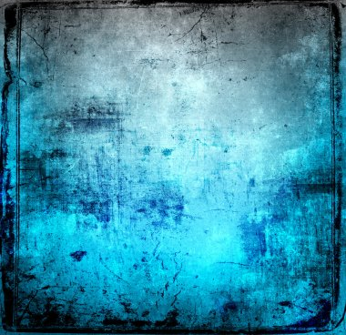 Bright blue grunge background