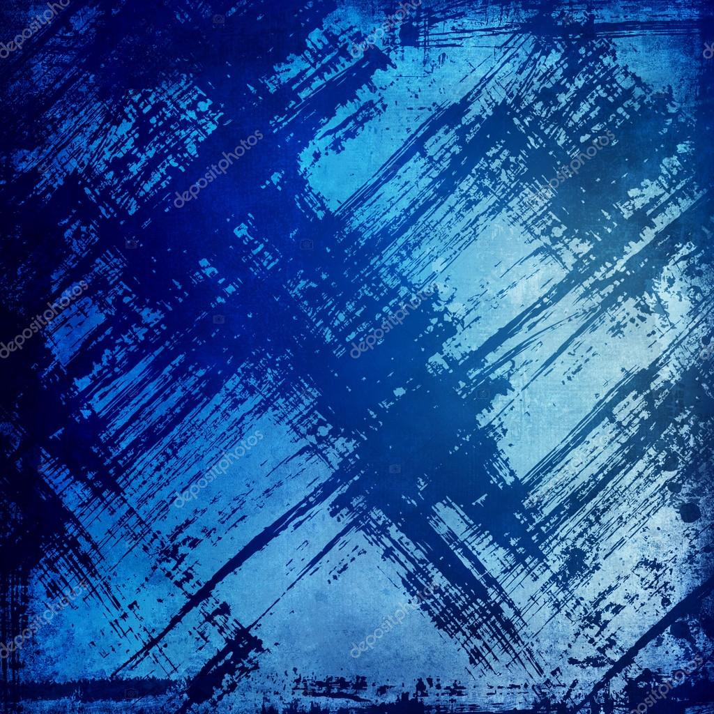 Grunge blue background with place for text