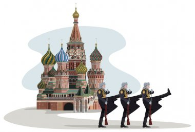 Kremlin and Russian Soldiers