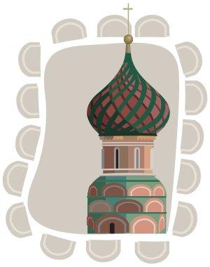 Frame with Kremlin Tower