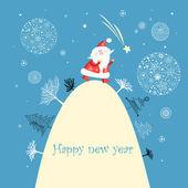 Fotografie Christmas card with Santa Claus