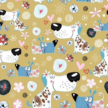 Texture of dog lovers