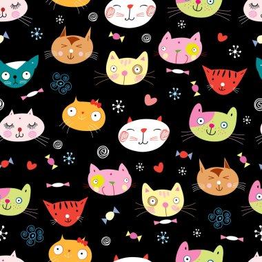 texture funny portraits of cats