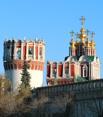 Detail of the tower of the monastery and the church