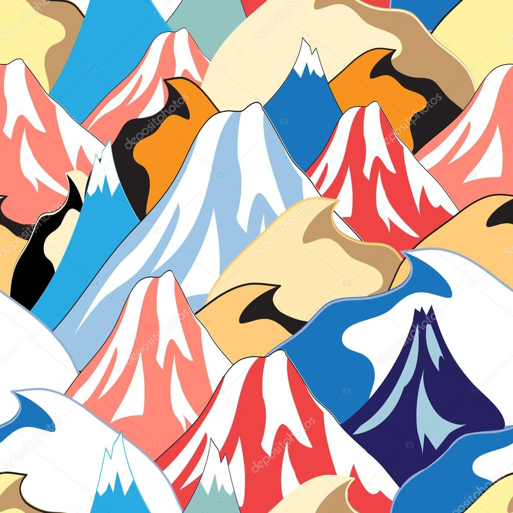 color pattern of the mountains