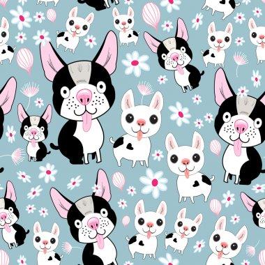 funny dog pattern