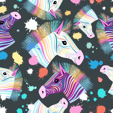 colorful zebra pattern