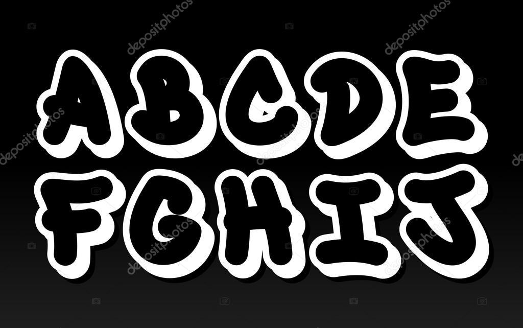 Bubble letters alphabet graffiti | Graffiti font alphabet
