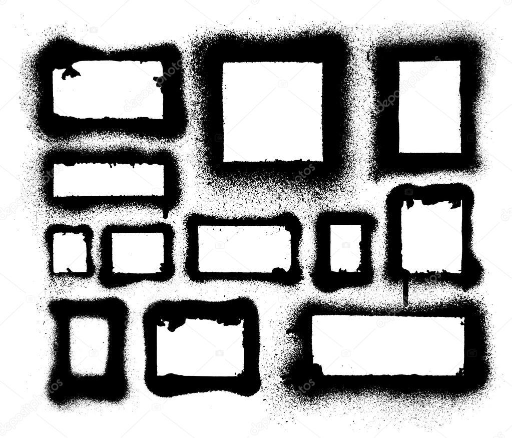Vector conjunto de marcos de pintura en aerosol aerosol detallada y ...
