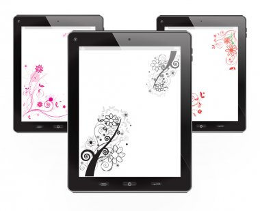 Tablets with floral vector design