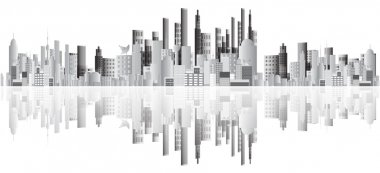 Abstract buildings vector