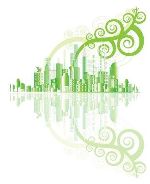 Green city vector,ecology concept