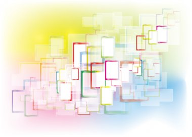 Abstract rectangles interface
