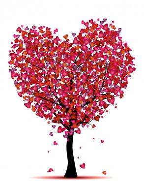 Beauty heart tree,love concept clip art vector