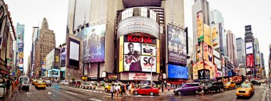 Panoramic shot of Times Square