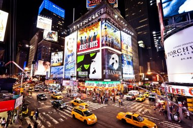 Times Square featured with Broadway Theaters