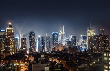 Night view of Midtown Manhattan