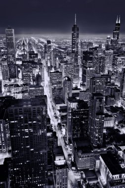 Aerial view of Chicago downtown