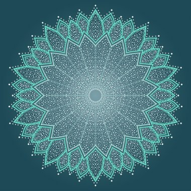 Mandala. Beautiful hand drawn flower.