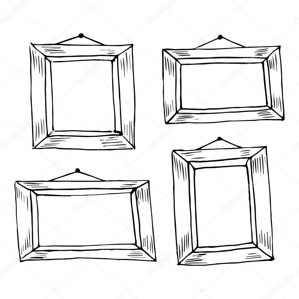 Satz von Hand gezeichneten doodle Rahmen — Stockvektor © Viktory_S ...