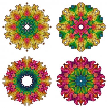 Set of four mandalas.