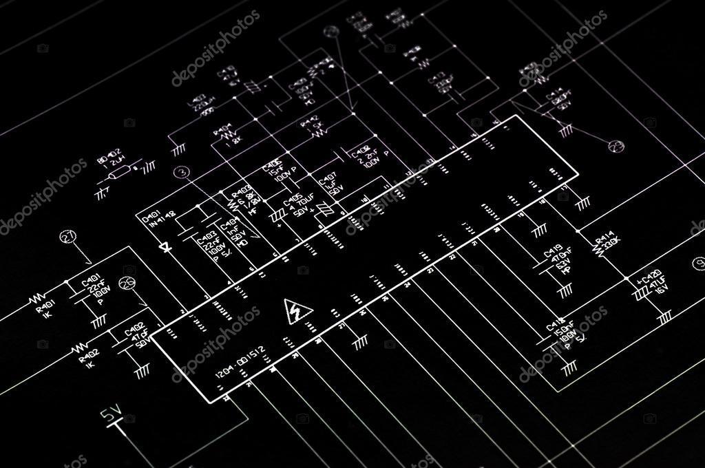 Schema Elettrico : Schema elettrico shematic u foto stock makaule