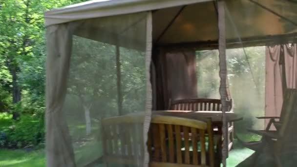 Go into garden gazebo arbor net protect mosquito