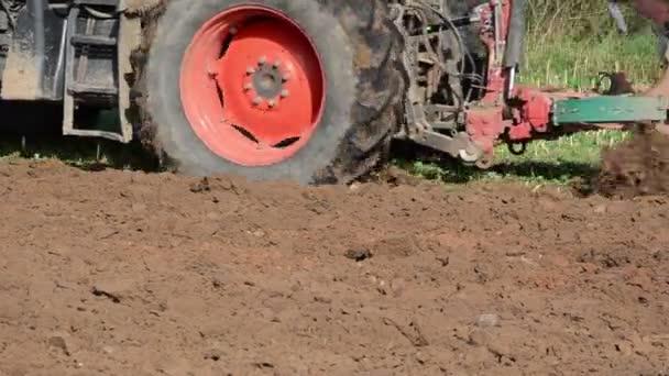 Tractor plough soil