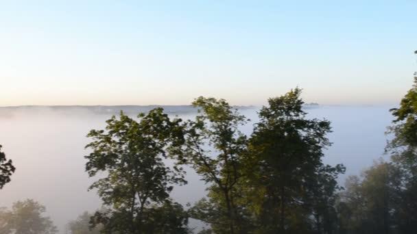 Panorama mlze Les