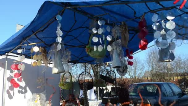 handmade angels decorations hang market fair tent move wind