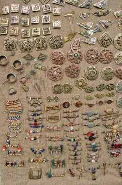 vintage jewelry from brass decorated beads stone
