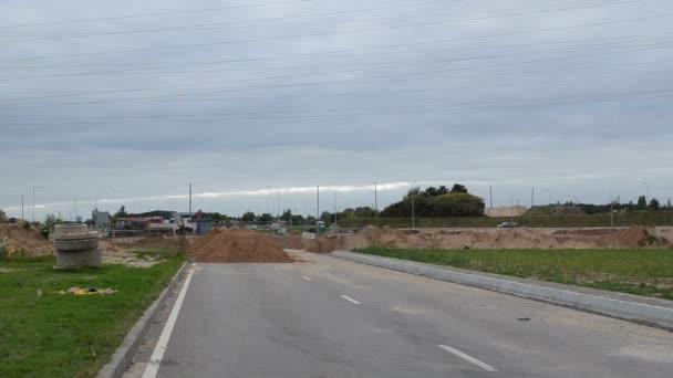 silniční stavební práce silniční směrové znamení objezdu auta