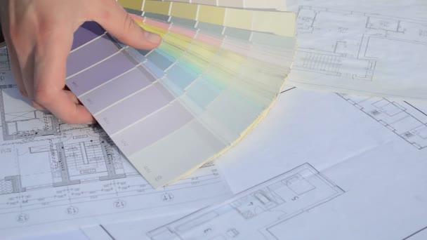 Woman pick color palette