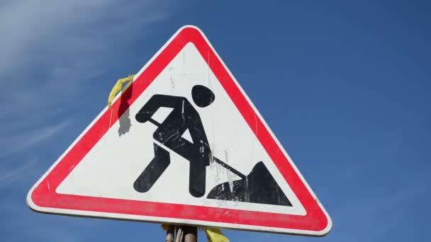 Warning sign work