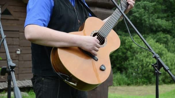 Guitar hand play music