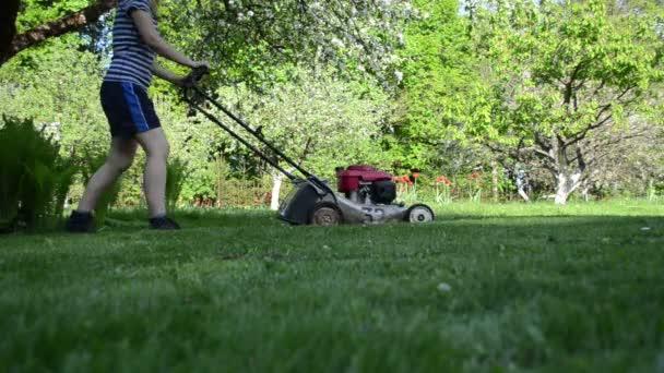 žena práce zahradní sekačky