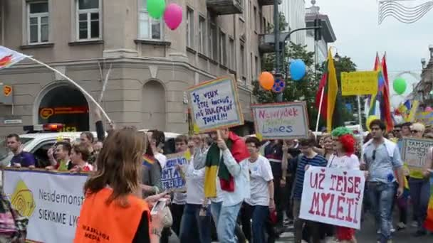 Gay balloons flags march