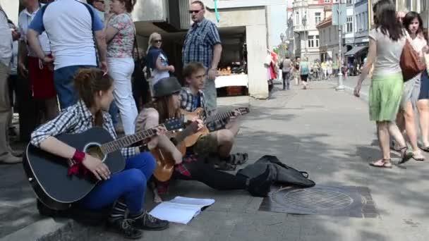 Leute Musikstraße