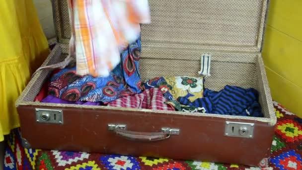 Summer clothes suitcase