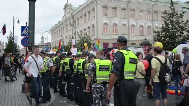 Policeman protect gay