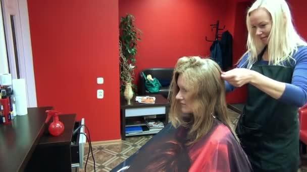 Hair stylist girl salon