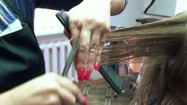 Woman face hair style