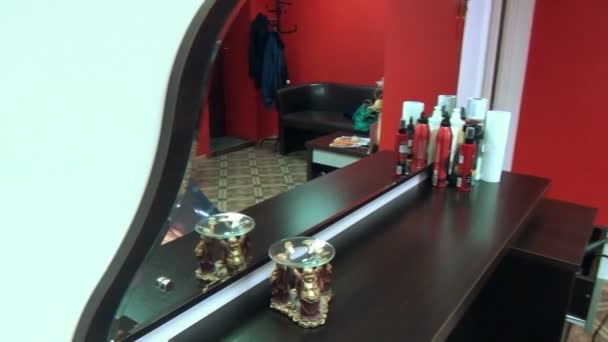 Mirror hair cut stylist