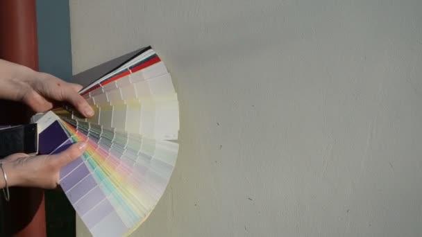 barevné stupnice odpovídající výběr