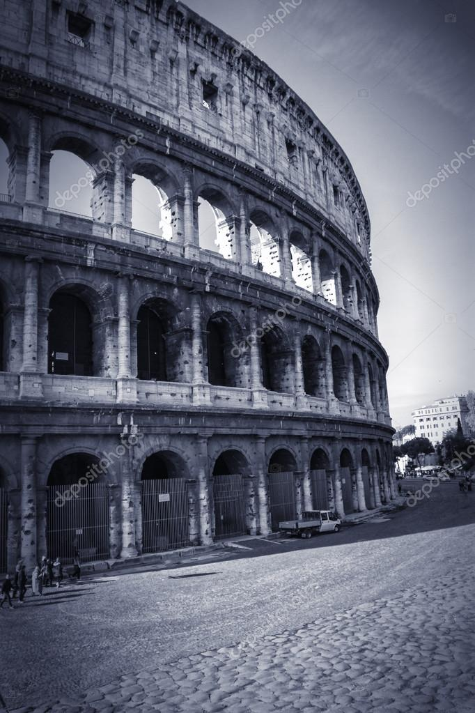 View of the Colosseum Amphitheater in Rome