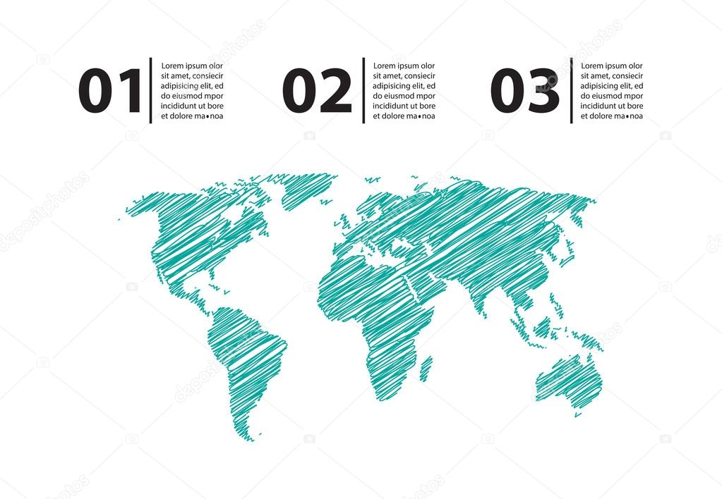 Map With Special Sketch Design Stock Vector C Place4design 30461913
